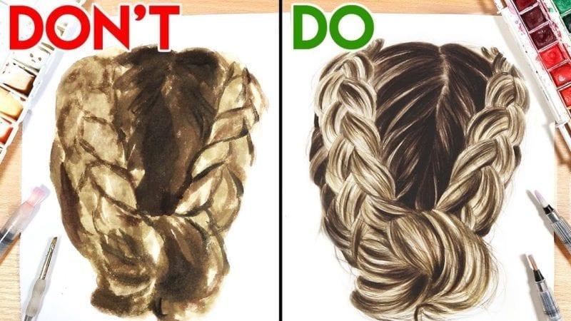 73cbd742c7897 DO'S & DON'TS, How to Paint Hair with Watercolor | | Hildur.K.O art blog