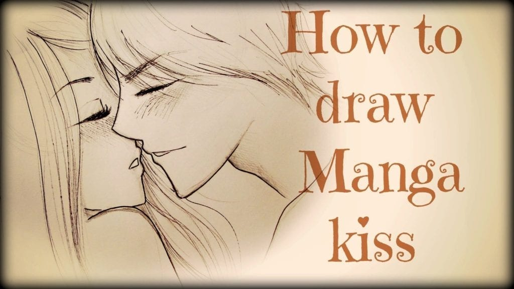 Drawing tutorial how to draw a couple kissing