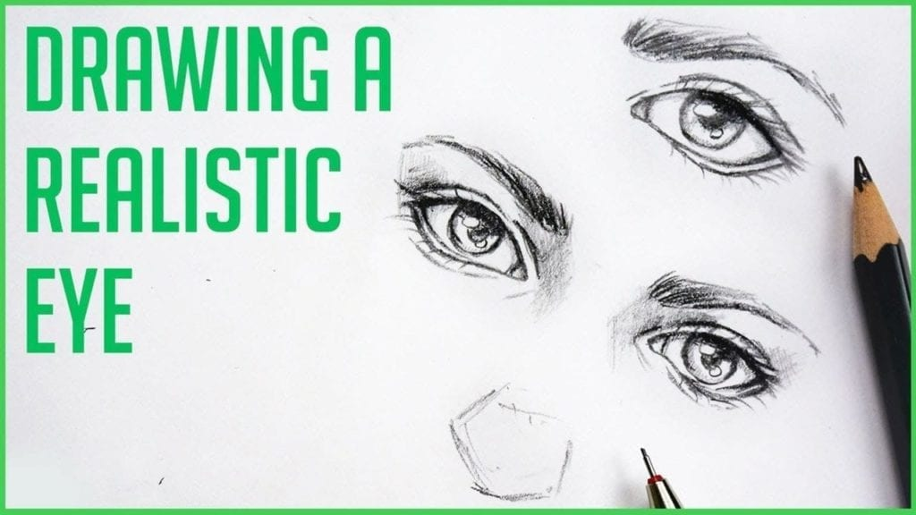 How To Draw Realistic Eyes Easy Art Drawing Tutorial For