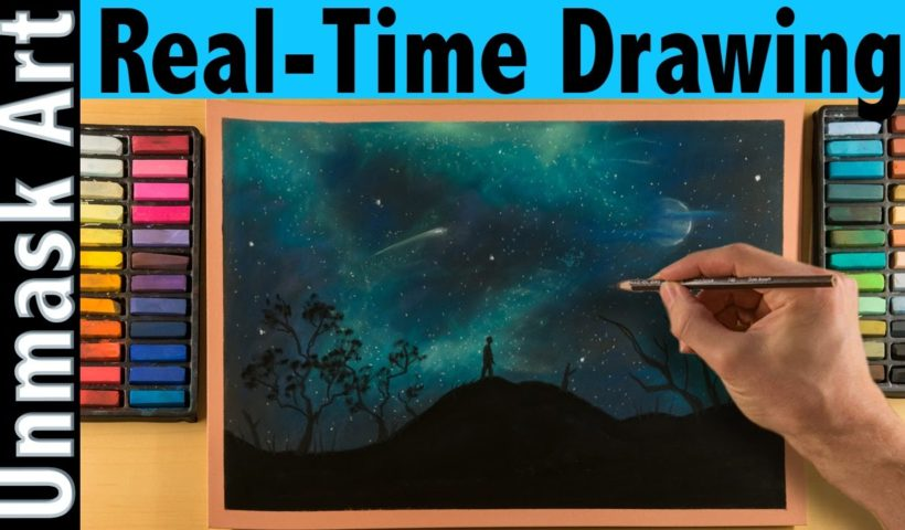 How To Draw A Night Sky With Soft Pastels Real Time Tutorial