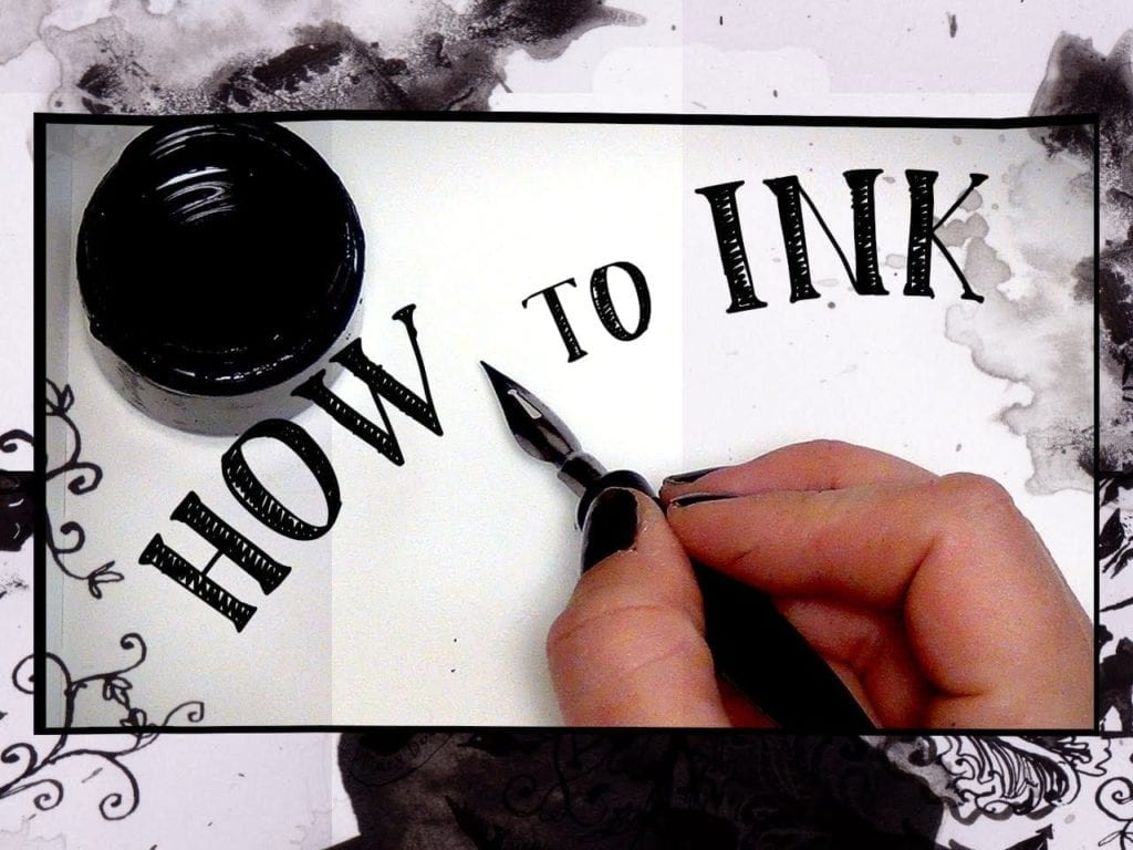 HOW TO ART – Inking tutorial | | Hildur K O art blog & shop
