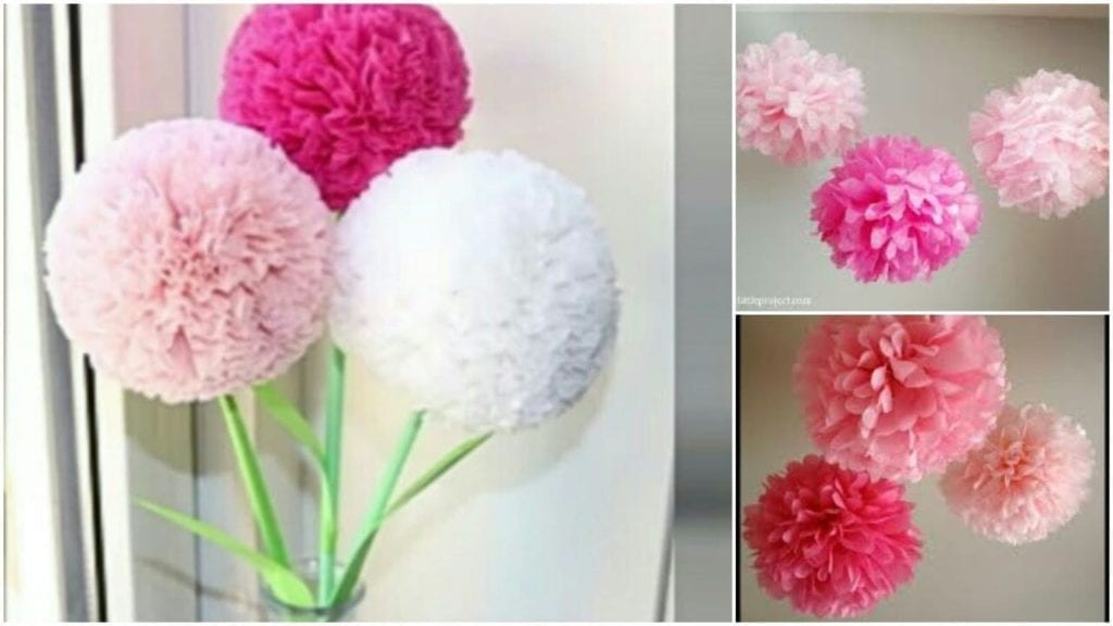 How To Make Round Tissue Paper Flower Diy Paper Craft Hildur