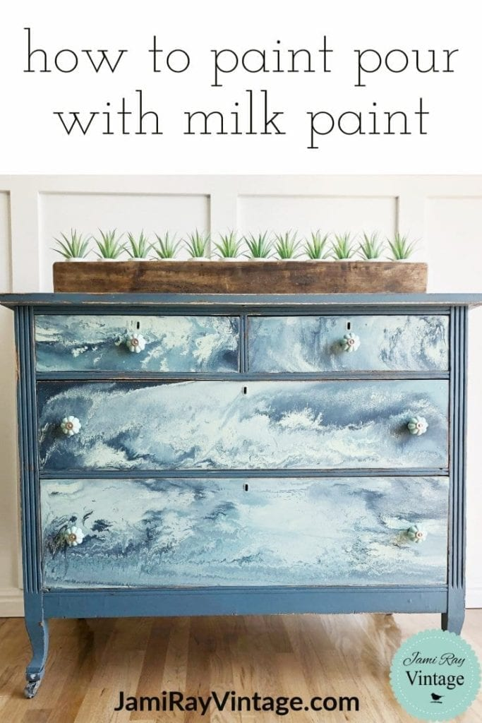 How To Paint Pour Furniture With Milk Paint Hildurko