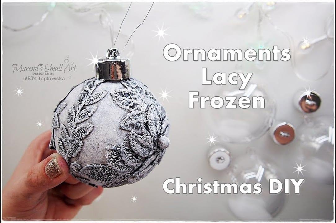 afeb9f4fc DIY Frozen Lacy Ornaments for Christmas – Hildur.K.O art blog & shop