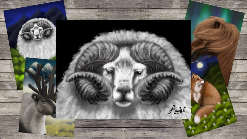 New Year's Ram, Animal Art Time Lapse video | Hildur K O art