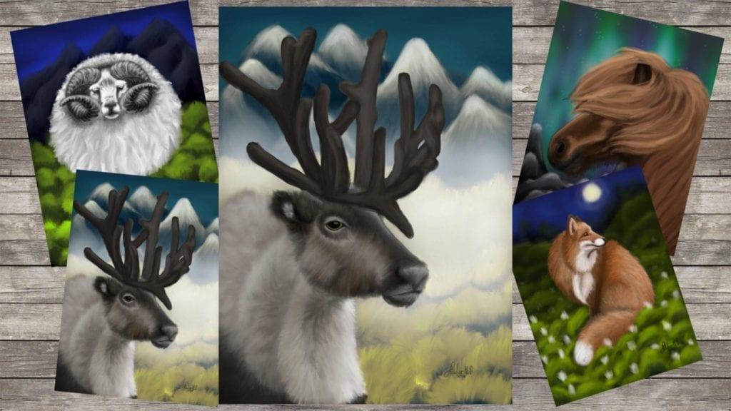 "e104014c5 Reindeer ""Time lapse"" | Speed painting + New print in shop – Hildur ..."