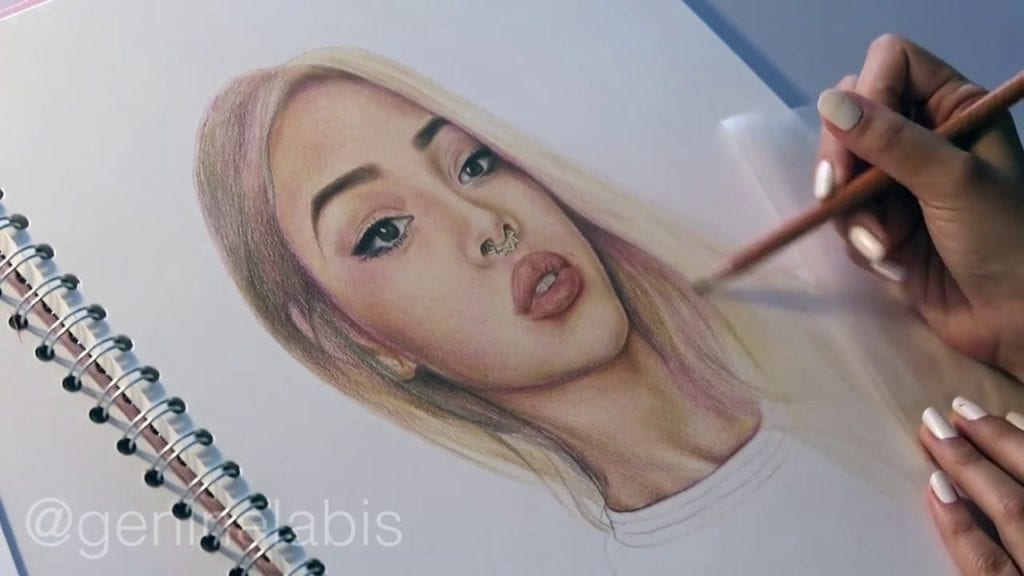 Lily maymac speed drawing faber castell polychromos coloured