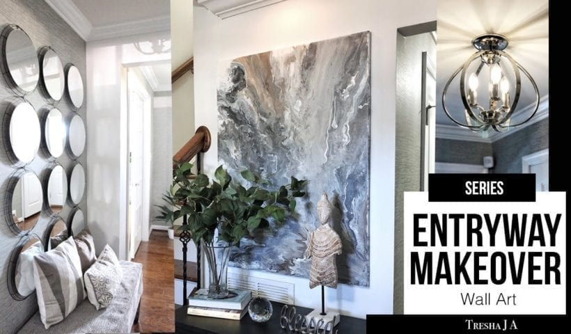 Diy Entryway Makeover Marble Abstract Wall Art Episode 5