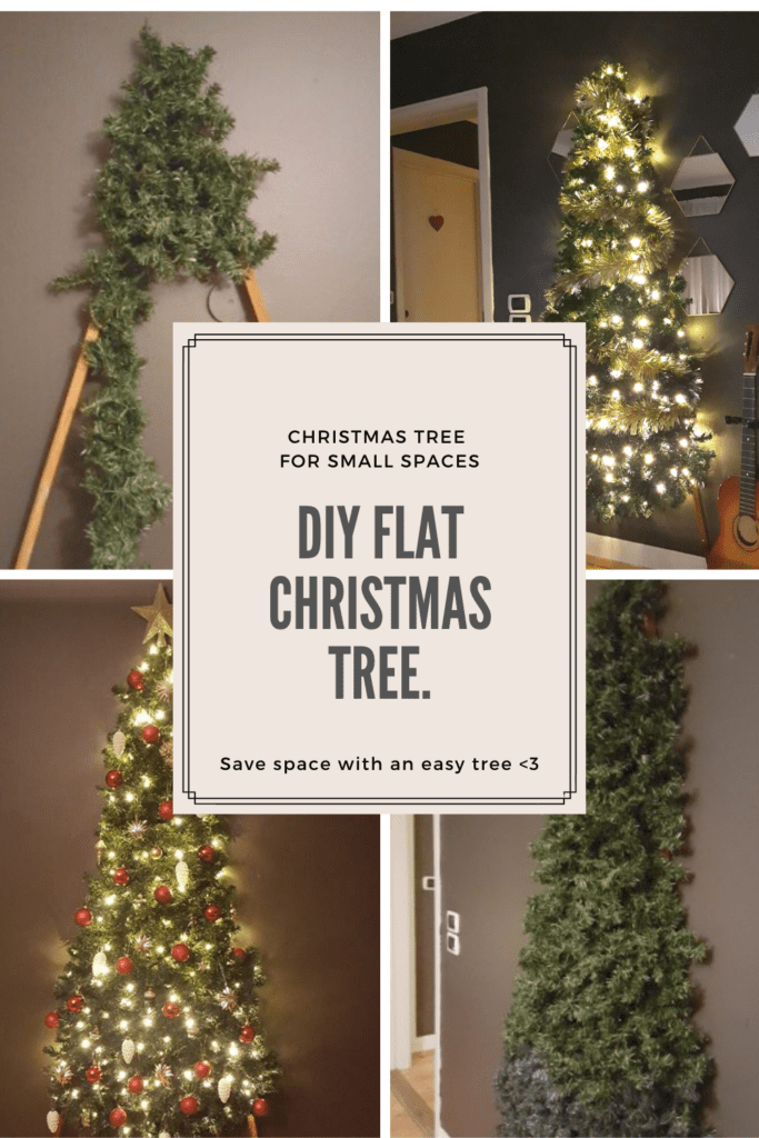Diy Flat Christmas Tree Save Space With An Easy Tree